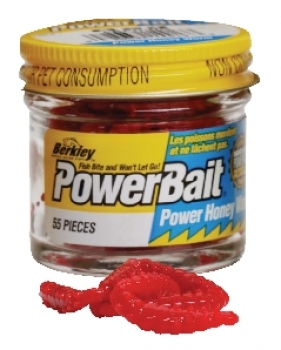Berkley Powerbait Honey Worms Hot Orange