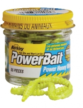 Berkley Powerbait Honey Worms Hot Yellow Garlic