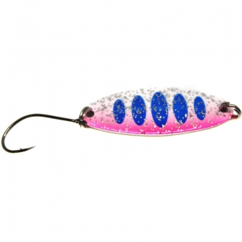 Paladin Trout Spoon - 2,0 g Blau Weiss Pink / Weiss Glitter